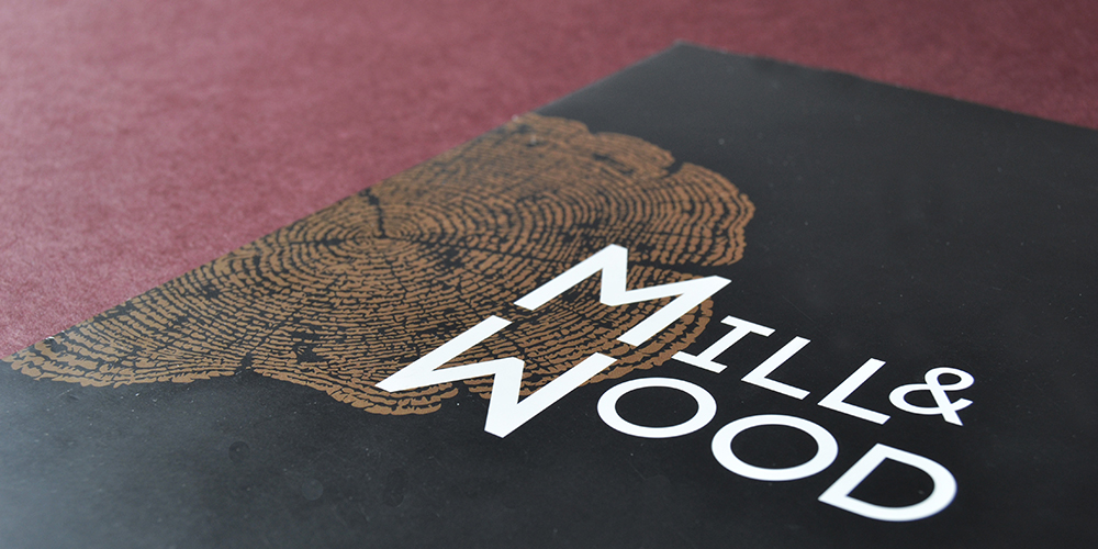 Creative graphic design for Mill&Wood