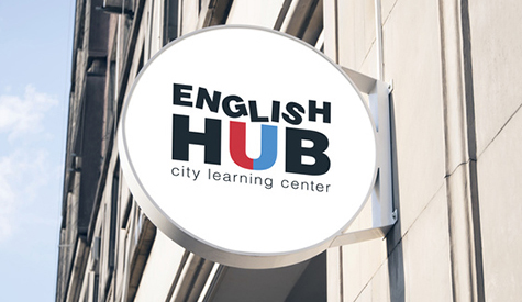 Business branding for ENGLISH HUB-image-left-upper